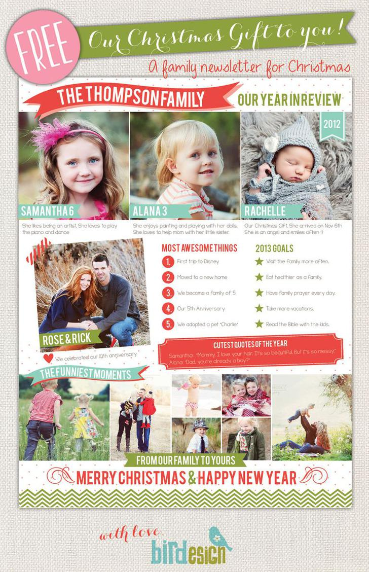 Sample Printable Family Christmas Newsletter Template Download