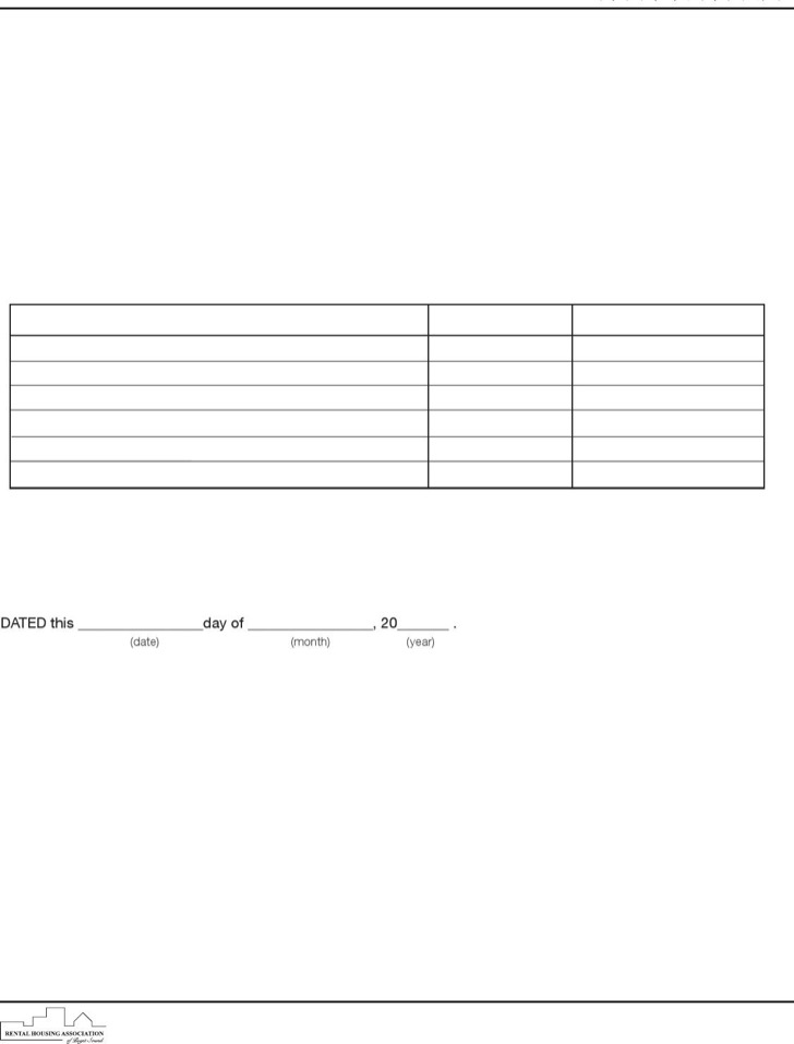 Sample Rental Lease Extension Template