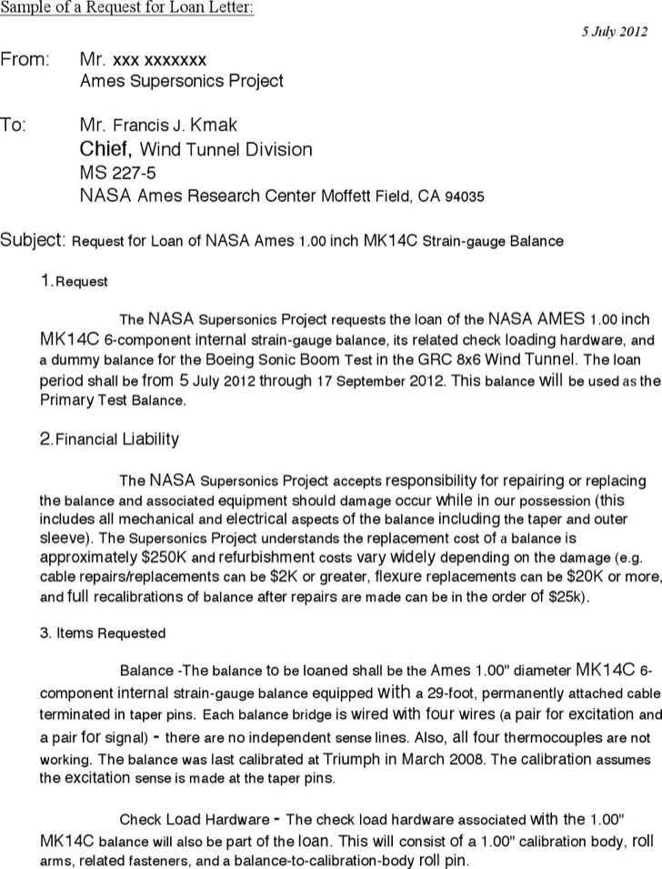 Sample Request Loan Approval Letter