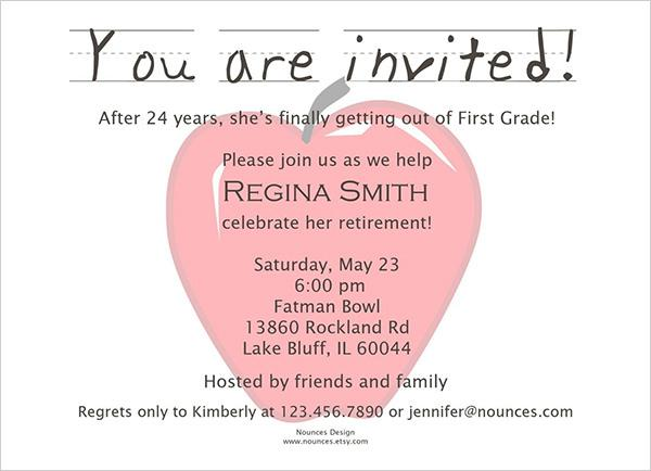 Retirement Party Invitation Templates – Surprise Retirement Party Invitation