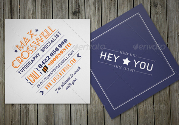 Sample Retro Business Card Template