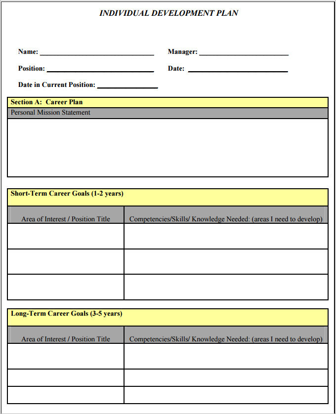 sample plan templates