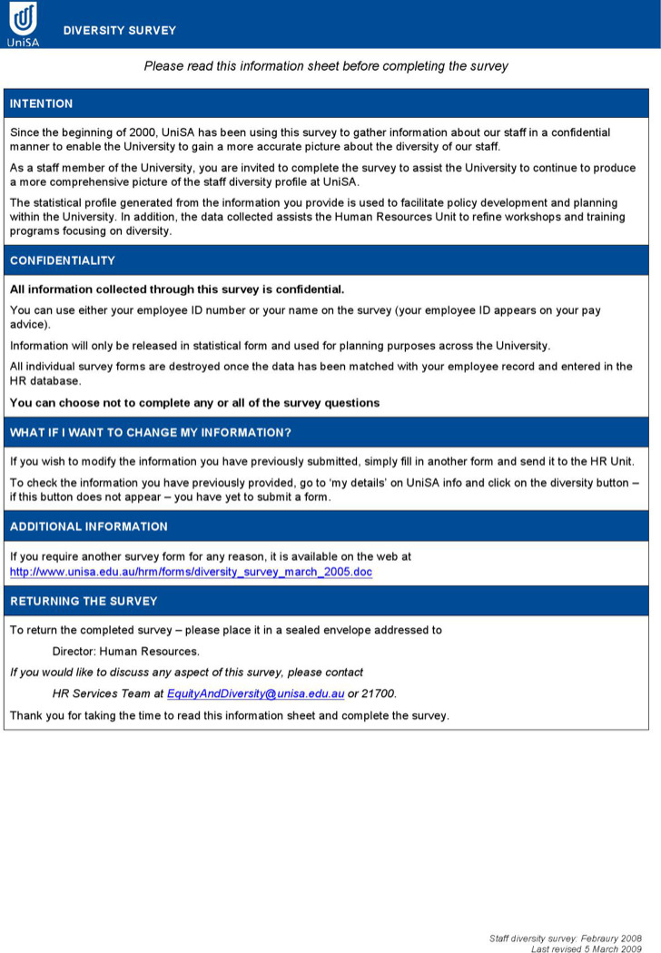 Sample HR Survey Forms – Sample Hr Form