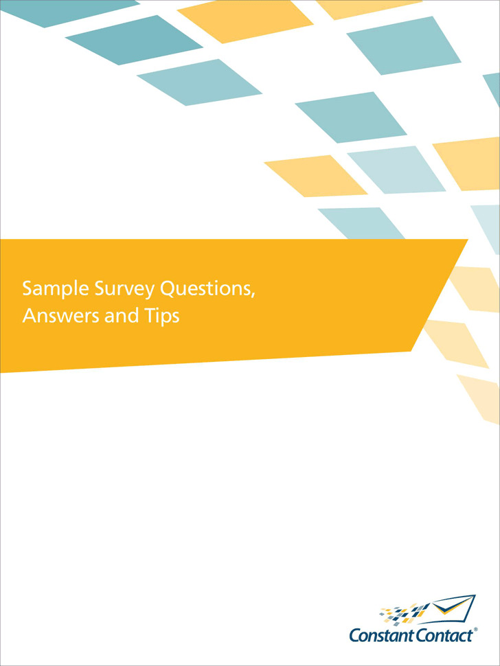 Sample Survey Questions, Answers and Tips