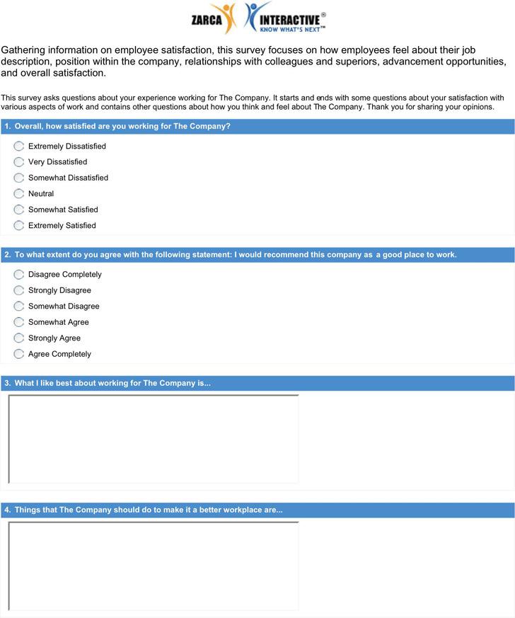 Sample Survey Questions 4