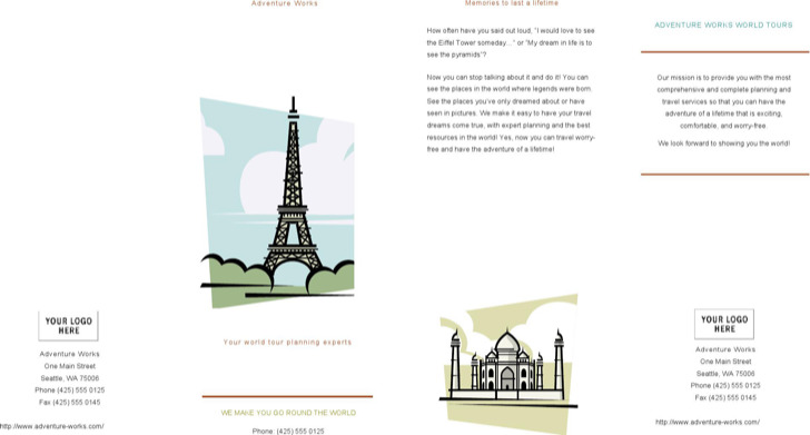 Sample Travel Broucher Template