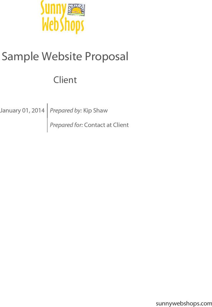 Sample Website Proposal