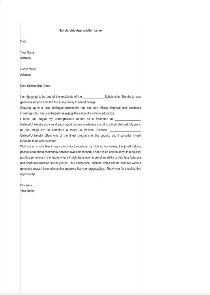 Scholarship Appreciation Letter1