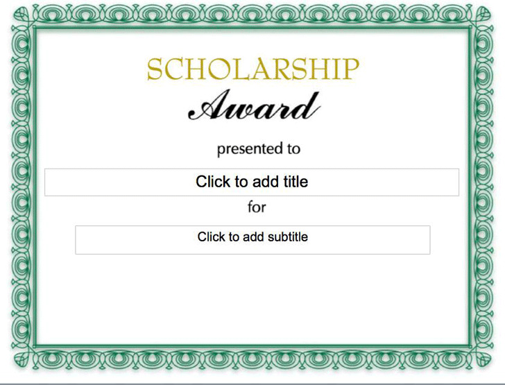 Scholarship Certificate | Download Free & Premium Templates, Forms ...
