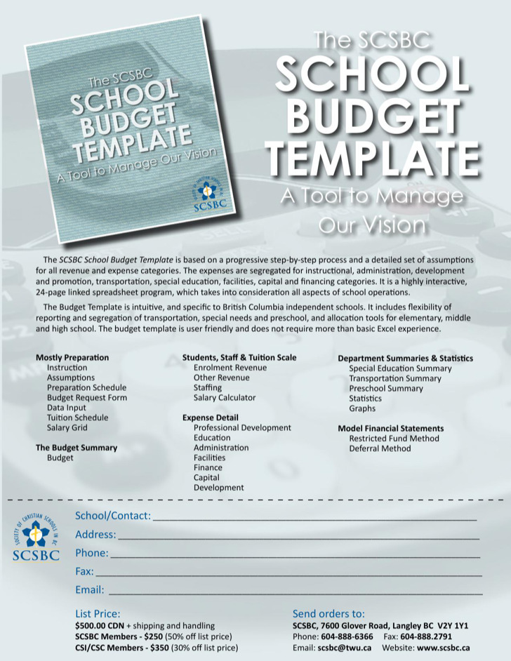 School Budget Templates  Download Free  Premium Templates Forms