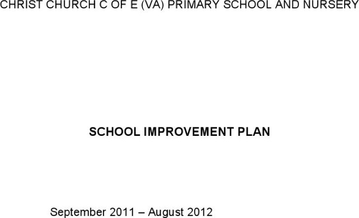 School Development Plan Primary