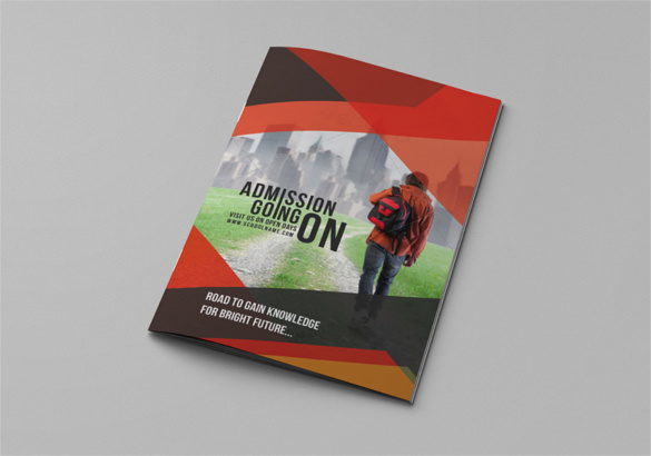 School Education Bi-Fold Brochure AI Format Download