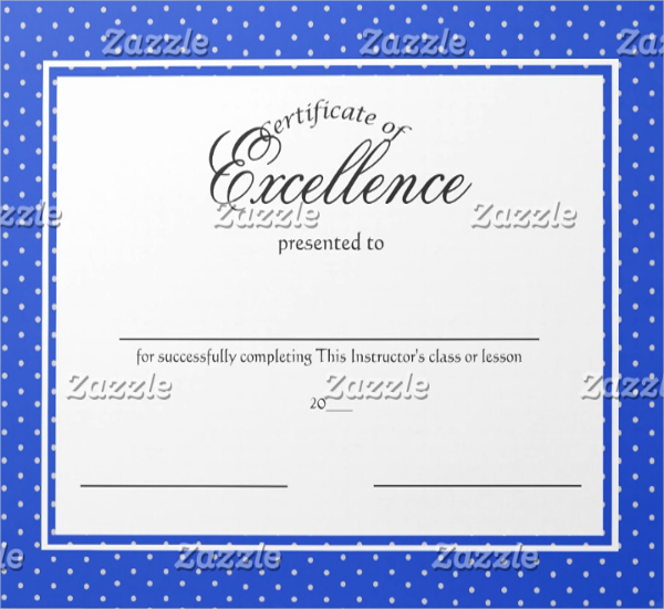 School Excellence Certificate Template