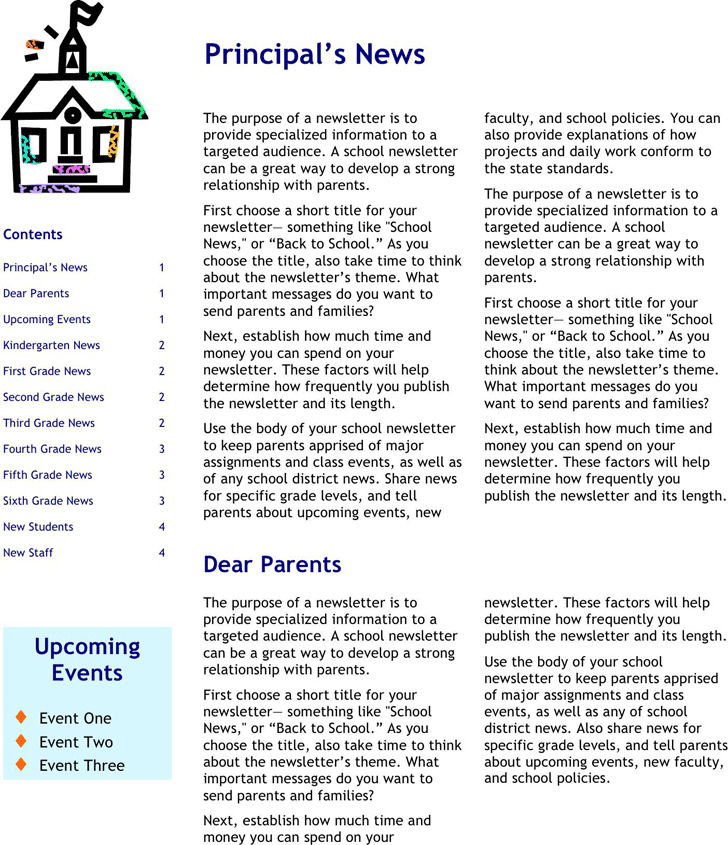 school newsletter template download free premium templates forms samples for jpeg png