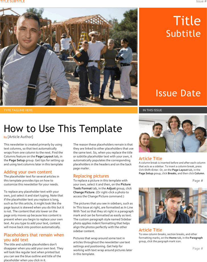 school newsletter template 3