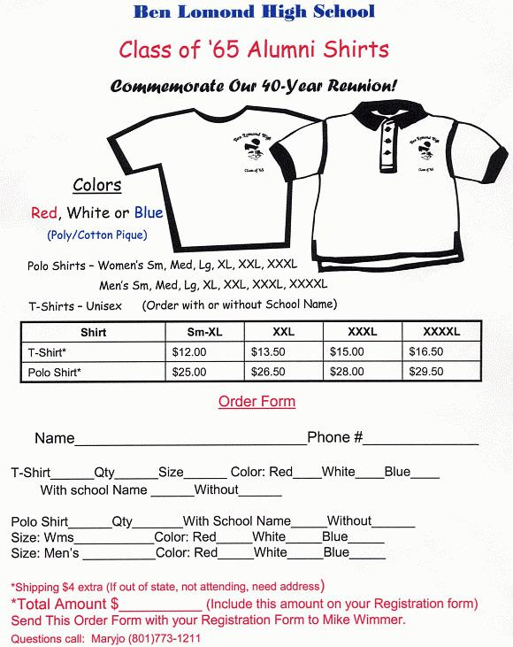 T-Shirt Order Form Template | Download Free & Premium Templates ...