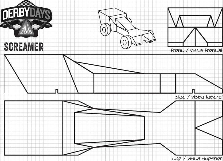 Screamer Derby Days Car Template PDF Printable