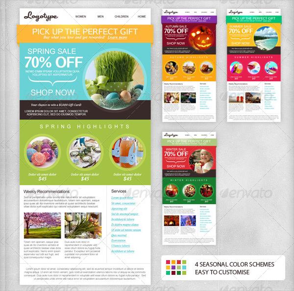 Seasonal Email Newsletter Design Template