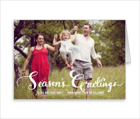 Season's Greetings Foldable Holiday Card Template