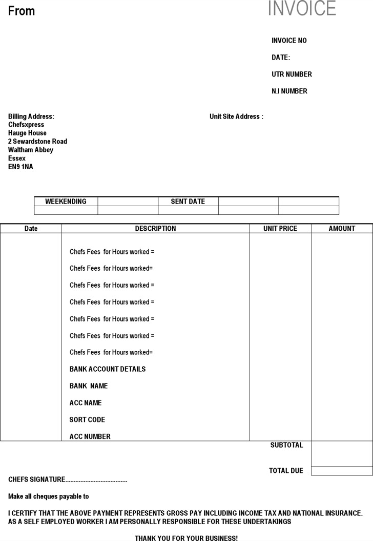 download invoice template self employed rabitah net