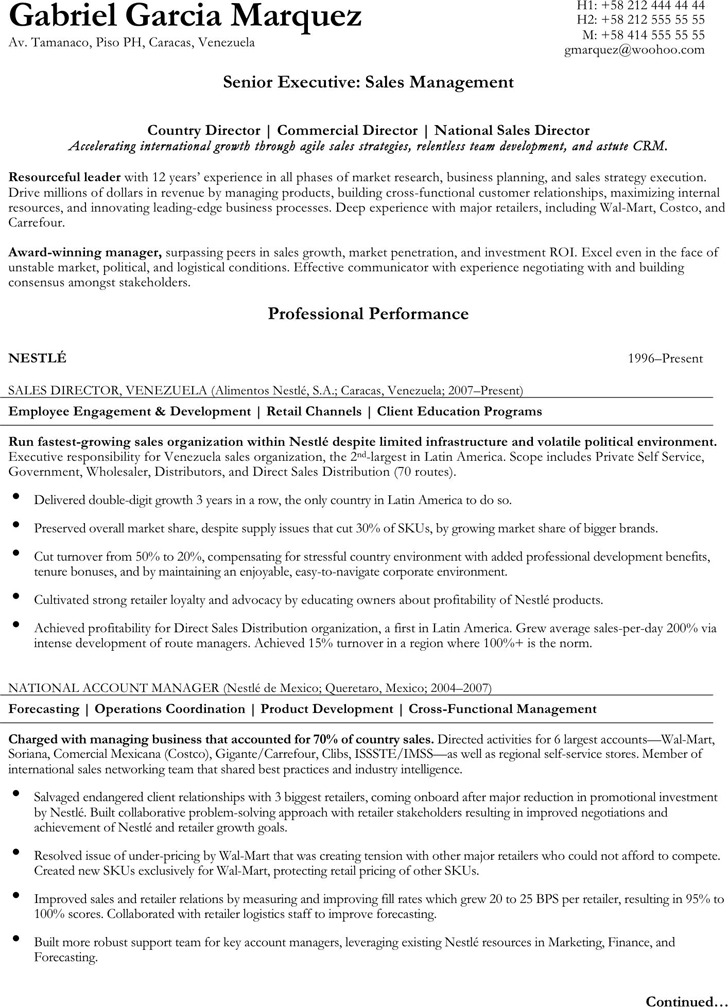 Executive Resume Template  Download Free  Premium Templates