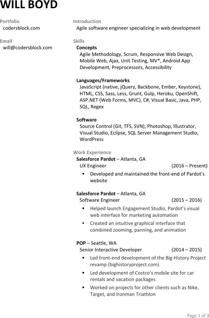 senior interactive developer resume template android developer resume