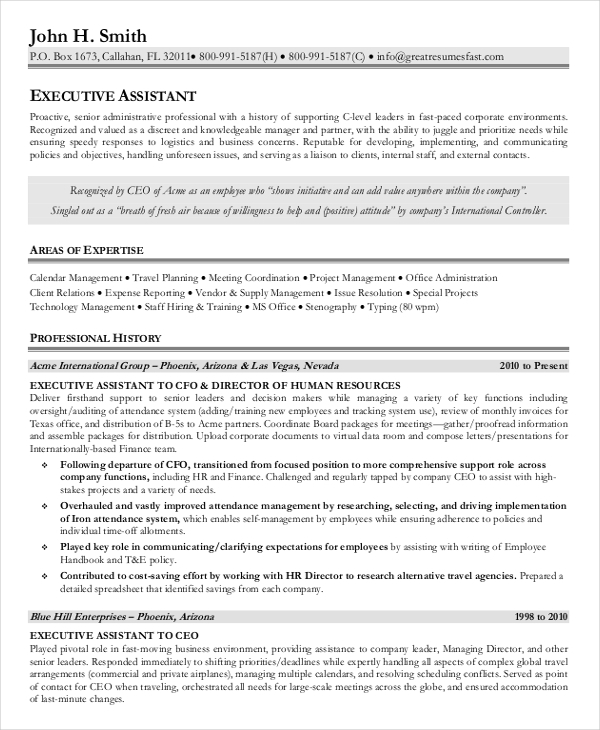 senior legal administrative assistant resume