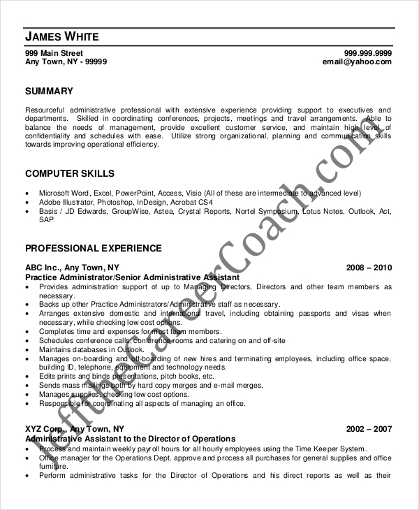 Copy Paste Resume Medical Administrative Assistant Resume Templates  Download Free  Business Professional Resume Excel with Sales Representative Resume Examples Excel Senior Medical Administrative Assistant Resume Criminal Justice Resume