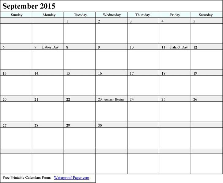 September 2015 Calendar 3
