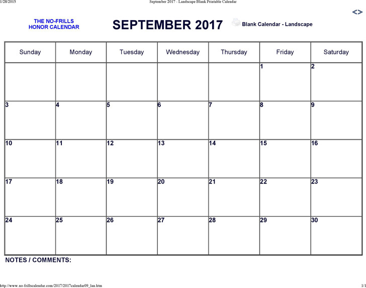 September 2017 Calendar 2
