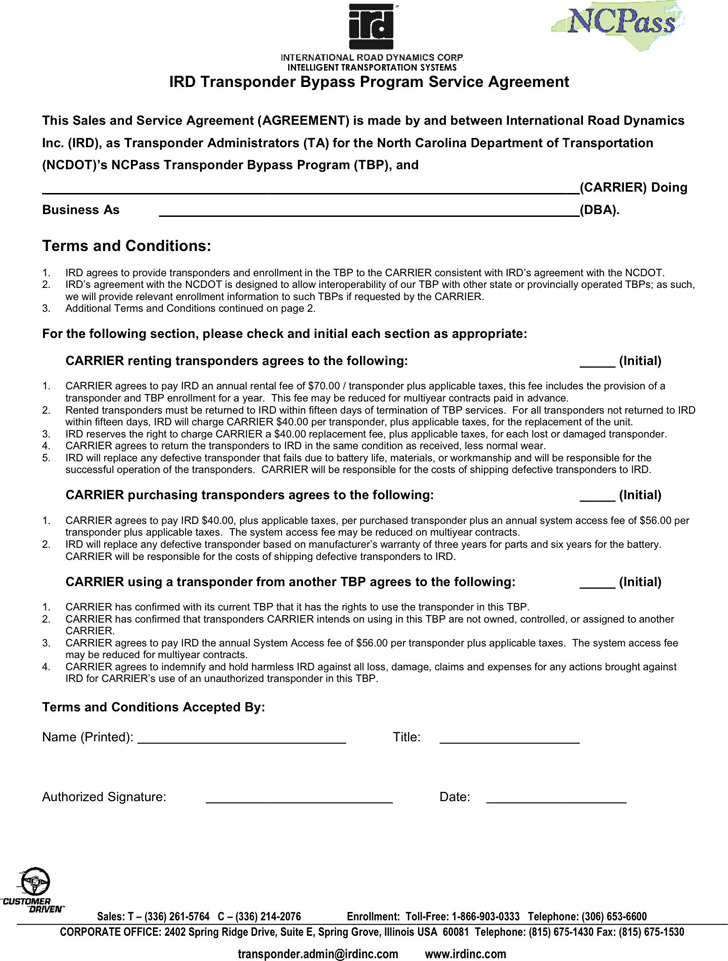 Service Agreement Template Download Free Premium Templates