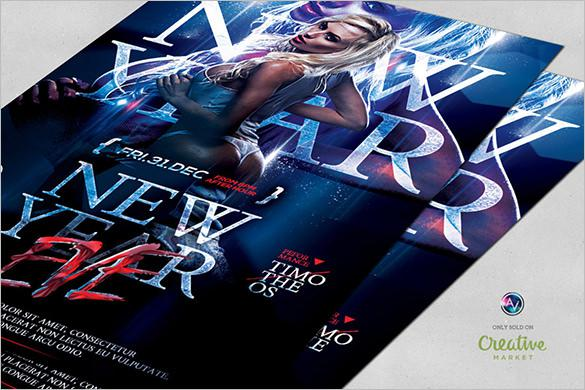 Sexy New Year Eve Flyer Template Download PSD