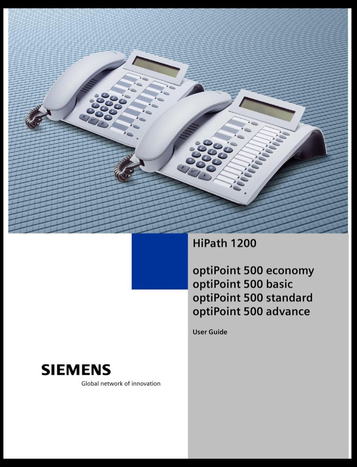Siemens User's Manual Sample