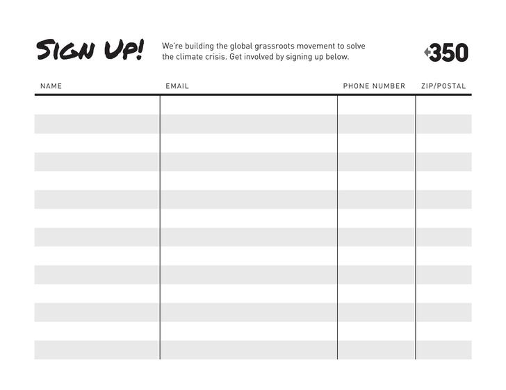 Sign Up Sheet Template Free
