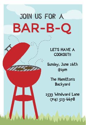 Simple BBQ Invitation Template