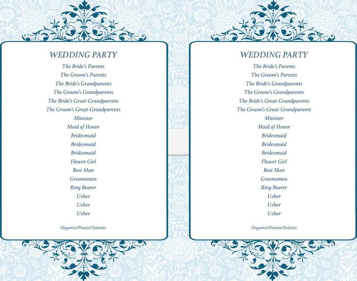 Simple Ceremony Wedding Program Fans Doc Download