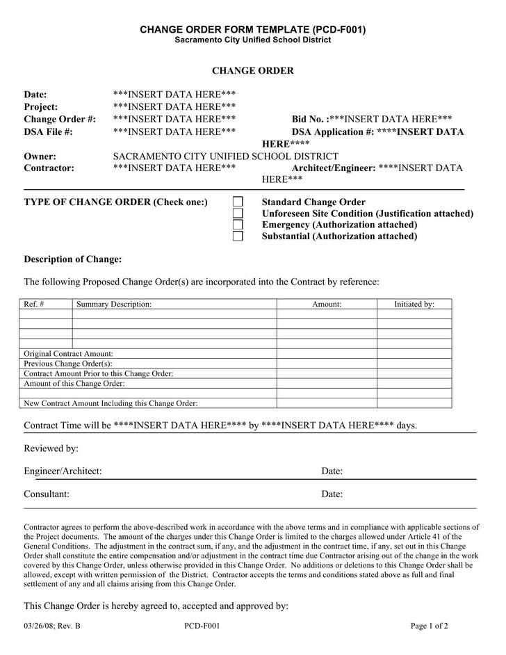 Engineering Change Order Template  BesikEightyCo
