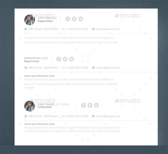 Outlook Email Signature Template