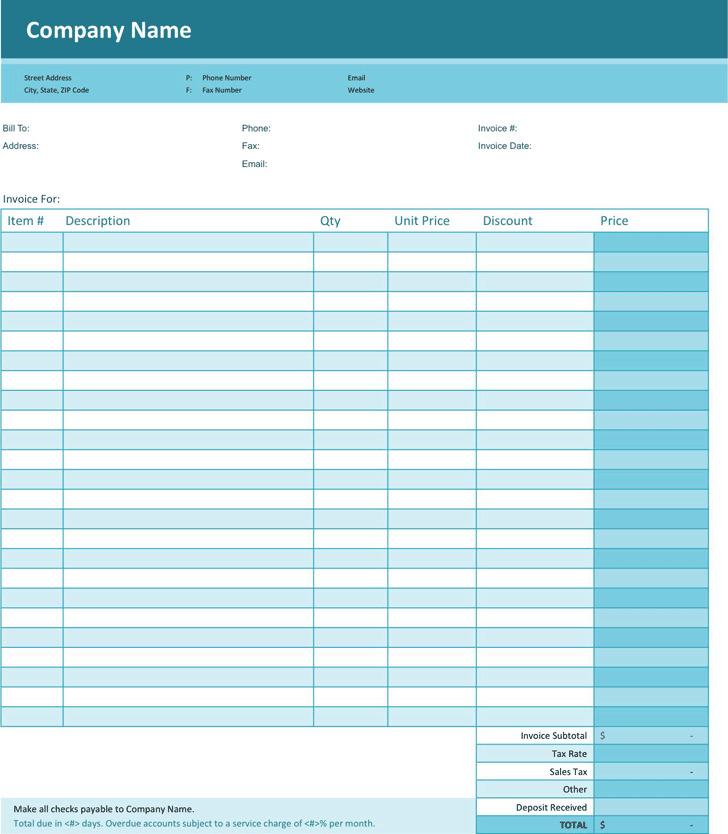 Simple Invoice Template 1