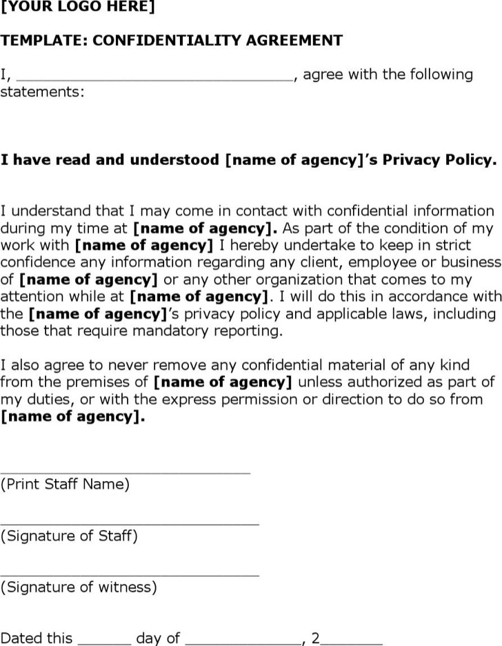 Non Disclosure Agreement Form | Download Free & Premium Templates