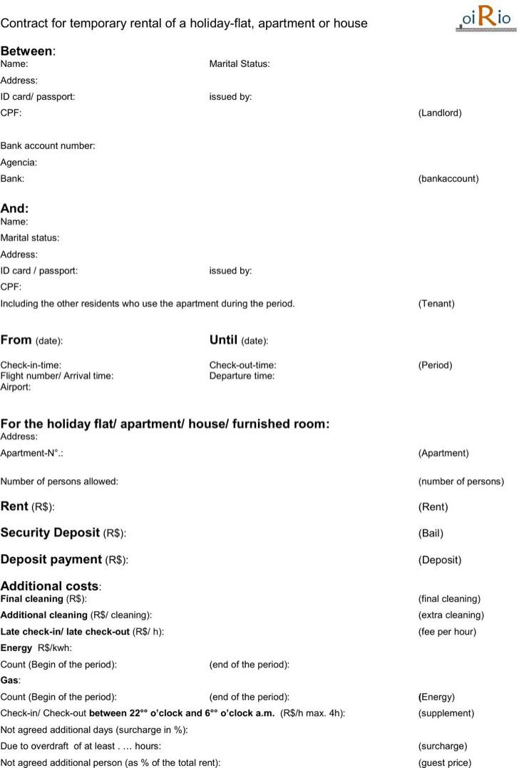 Simple Rental Agreement Templates – Simple Rental Agreement Template Word