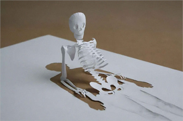 Skelton Paper Art Design