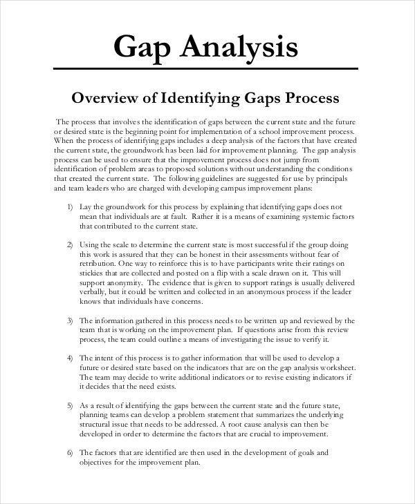 Skills Gap Analysis Word Template