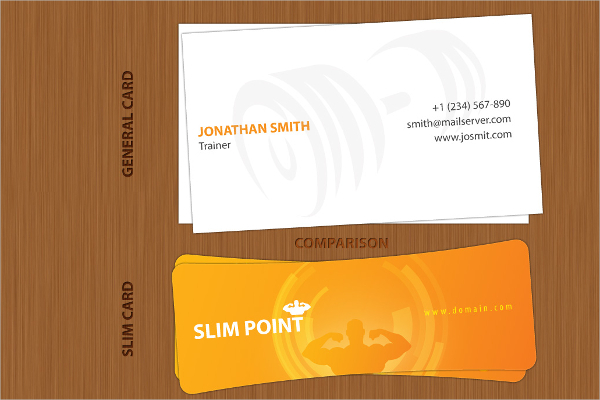 Slim Shape Business Card