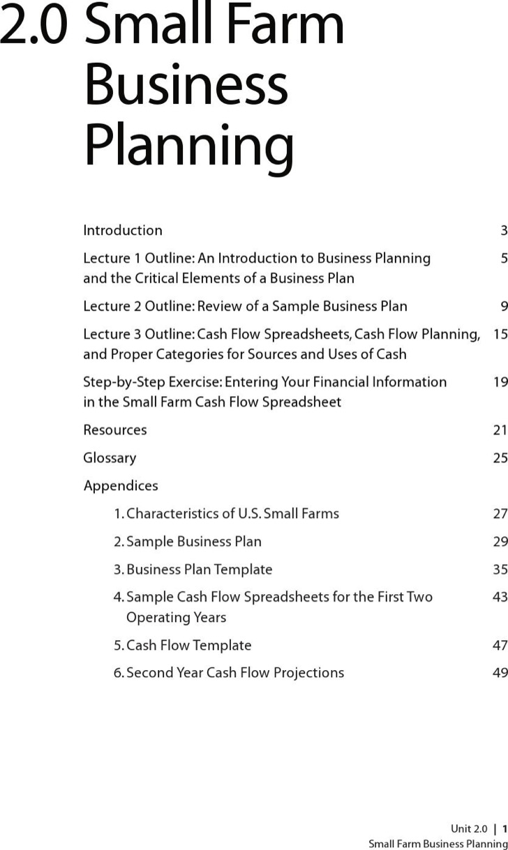 Farm Business Plan Templates Download Free Amp Premium