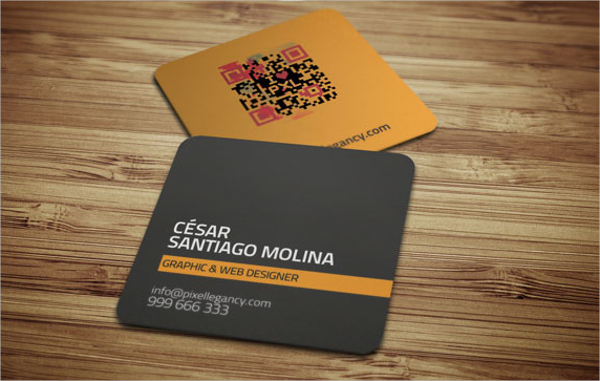 Small Square Business Card Template