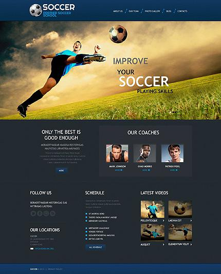 Soccer Club Website Template