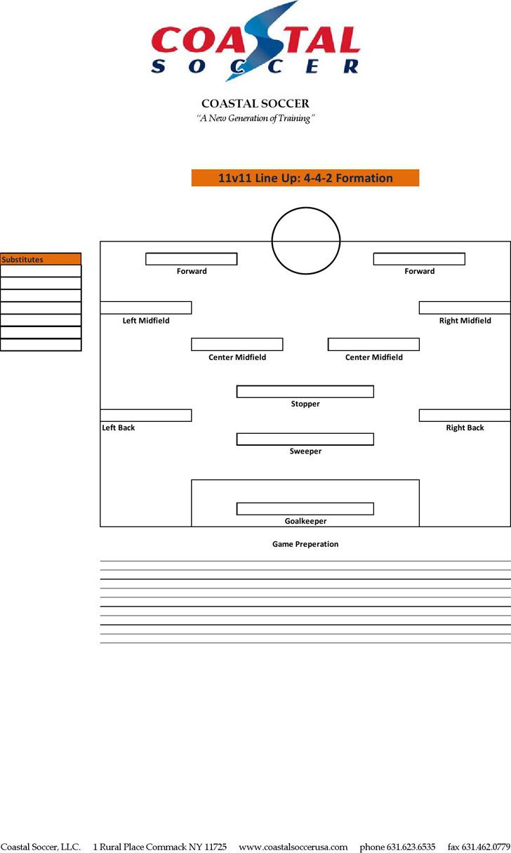 Soccer Lineup Template