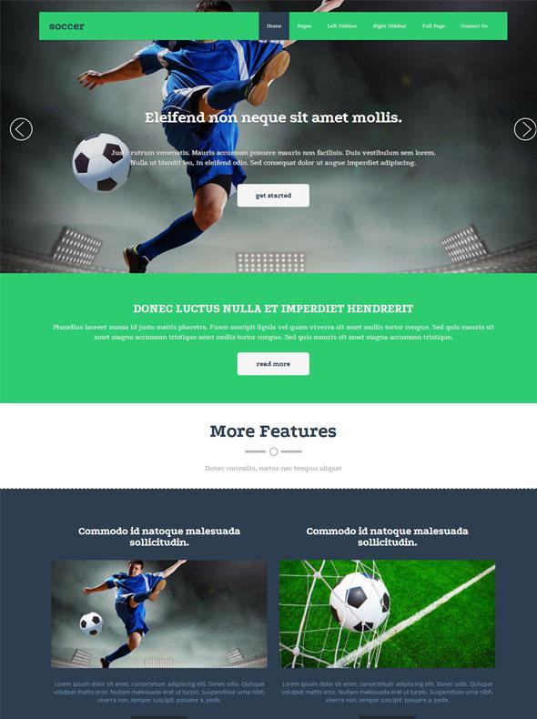 Soccer Sport HTML Website Template