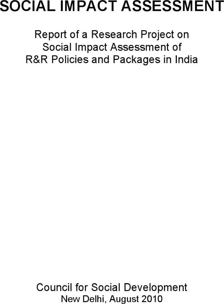 Social Impact Assessment Template